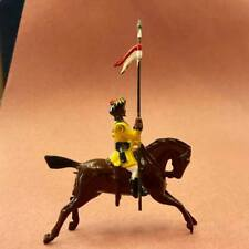 BRITAINS MOUNTED INDIAN ARMY LANCER, CHARGING HORSE, #2 54MM  METAL FIGURE