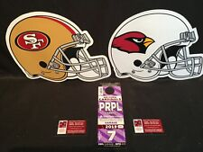 Arizona Cardinals San Francisco 49ers 10/31 Purple Hotel Garage Lot Parking Pass