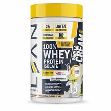 LEAN Active Whey Protein Isolate 100% Muscle & Gain Protein Powder Vanilla 450g
