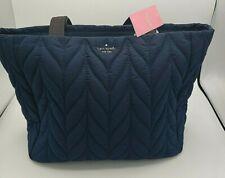 Kate Spade Ellie Large Top Zip Shoulder Tote Night Cap Navy Blue Nylon $299 New