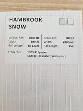 "89mm (3.5"") VERTICAL BLIND FABRIC. FULL ROLL. 100M. HAMBROOK SNOW"