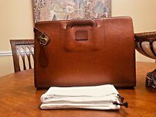 Authentic BURBERRY Cognac Leather Briefcase / Portfolio / Attache - London, UK