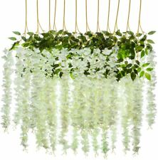 3.6ft Artificial Wisteria Vine Ratta Hanging Garland Flowers Home Wedding Decor