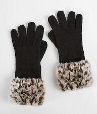 Gloves BKE  Leopard Glove -Faux Fur Leopard Print Glove NWT ~One Size
