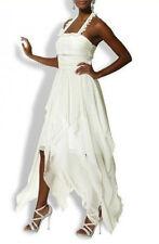 HEINE Abendkleid Kleid Zipfel Brautkleid Hochzeitskleid Kurz-Gr.17 / 34 NEU ecru