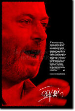 "CHRISTOPHER HITCHENS PHOTO POSTER ""RED"" PRINT GOD IS NOT GREAT"
