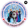 """30 x Personalised Round Frozen Labels 50mm 2"""" Party Stickers thank you labels"""