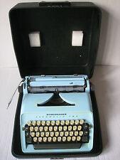 Scheidegger Typomatic Star Training Blue Typewriter + Case