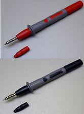 2 Prüfspitzen mit Büschelstecker (schwarz/rot) für Messleitungen - 1000V / 10A