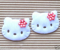 """US SELLER - 45pc x (1 5/8"""") Padded Appliques w/Flower Bow for Hello Kitty ST519R"""