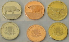 2013 Somalia 3 coins- 5,10,20 Sh-Amazing animals-Buffalo,Rhinoceros,Leopard