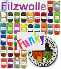 Filzwolle Uni 50g Fb. 01 weiß
