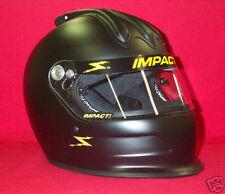 Impact Super Charger Air Helmet Flat Black SA2015 imca Your Choice of M,L,XL