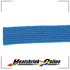 Blue Expandable Braided Polyester Sleeving 3mm