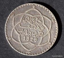 MAROC MOROCCO 1/4 RIAL 2,5 Dirhams  ARGENT SILVER 1329  1911  mo08