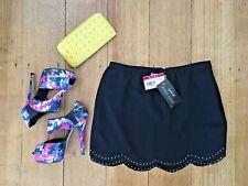 Supre Black Scallop Gem Skirt Casual Party Clubbing Festival Work Size Medium