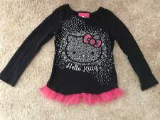 HELLO KITTY  Black Sparkle Long sleeve  Tee-Shirt ~ Size 4