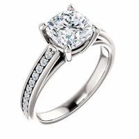 2.00Ct near white Moissanite Forever Wedding engagement ring 925 sterling silver