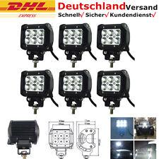 6x 18W CREE LED Scheinwerfer Arbeitsscheinwerfer Offroad SUV 12V Bagger Strahler