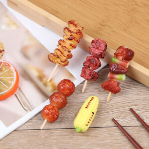 1Pcs Cute Mini Play Toy BBQ Simulation Food Miniature For Doll House Toy IJc^ XE