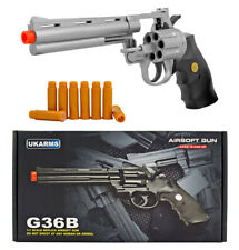 New listing UKArms G36B Six Shooter Revolver Spring Powered Airsoft Pistol Gun 150 FPS