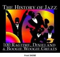 ) Feat: the History Of Jazz: 100 Ragtime, Dixieland & Boogie Woogie Greats - CD