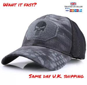 Punisher Multicam Black Kryptek Baseball Cap Operators Hat Airsoft Hunting Camo