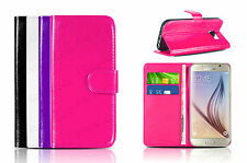 Wallet Book Flip Premium Leather Case Cover Card Slot Pouch For All Smart Phones