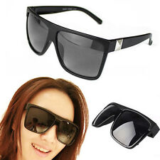 Men Women Vintage Large Square Frame Flat Top Outdoor Sunglasses Eyewear Worthy