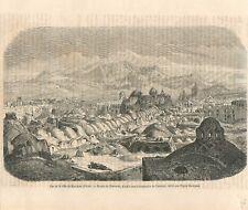 Panorama de la Mosquée de Kachan Kaschan en Perse Iran de Laurens GRAVURE 1868