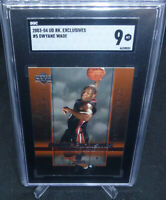 2003-04 UD Rookie Exclusives Dwayne Wade Rookie Card #5 Graded SGC Mint 9 HEAT