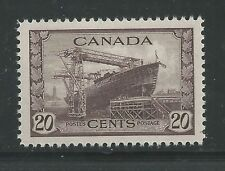 "CANADA # 260 MNH THE SHIP, ""CORVETTE""  (2742)"