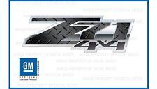 set of 2: 2007 - 2013 Chevy Silverado Z71 4x4 Decals FSDPBLK Diamond Plate Black
