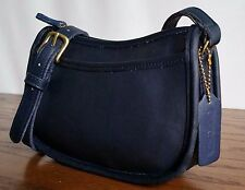 Coach Wendie 9031 Vintage Navy Blue Leather Cross Body Shoulder Bag