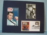 """Jack Webb as Sgt. Joe Friday in """"Dragnet"""" and  First Day Cover  of its own stamp"""