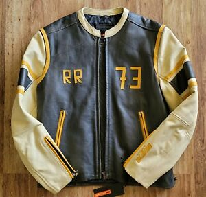 Rare KTM Leather Jacket Original OEM Biker Racer Style RR 73 - NEW Made in Italy