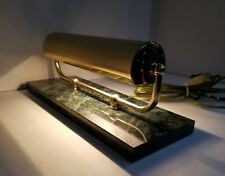 Vintage Bankers Piano Brass & Marble Low Profile Desk Lamp