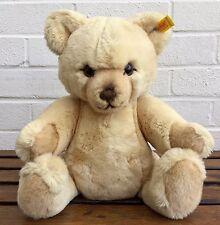 VINTAGE Steiff-Petsy-Classic Golden Biondo Tan Peluche Snodato Teddy Bear 0233/35