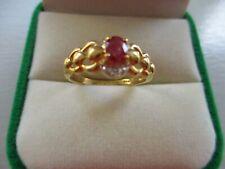 bijoux or 18 carats bague or rubis diamants