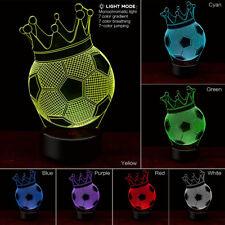 3d Football Night Light Table Desk Lamp 7 Colors 3d Optical Illusion Lights B