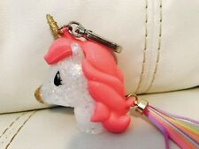 Bath & Body Works PocketBac Holder 🦄 Pink Multicolor Glitter Unicorn w/ Tassel