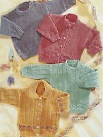 """Baby Cardigans and Sweaters Knitting Patterns 16-22""""  DK  329"""
