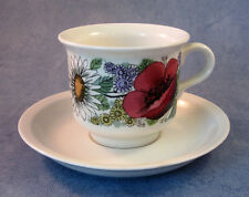 ARABIA OF FINLAND, Valmu, Vintage, Coffee Cup & Saucer, Very Good Condition