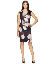 Calvin Klein Floral Print Stretch Dress. Retail Size 12