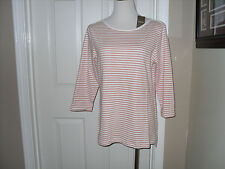 NWT Chico's Standard Stripe Julia Top Blouse 3=16/18 XL100% Cotton
