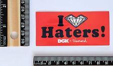I love haters DGK x diamond red label skateboard decal sticker #2654