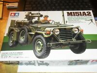 """Tamiya """"EMPTY BOX"""" of 1/35 scale M151A2 w/Tow Missile. Some small parts in box"""