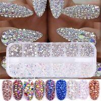 Fashion AB Crystal Rhinestone Diamond Gem 3D Glitter Women's Nail Art Decoration