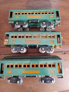Lionel Standard 339 339 341 Peacock Orange Train Cars