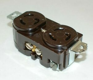 Arrow Hart L5-15 Brown Duplex Locking Receptacle